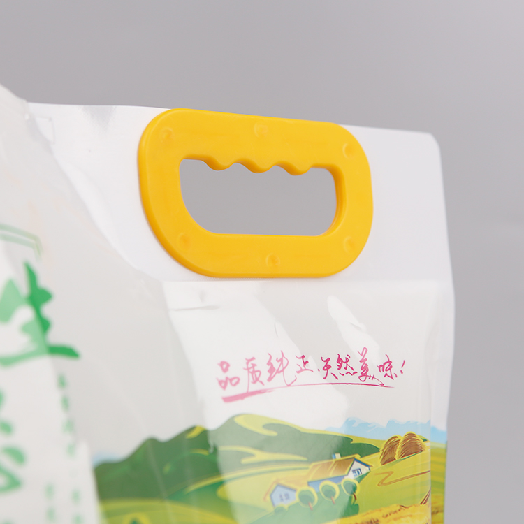 rice packaging bags with handle