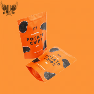 stand up pouch chip packaging bags