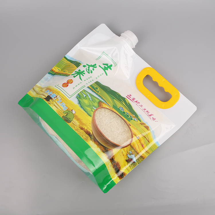 rice packaging bags with clear window