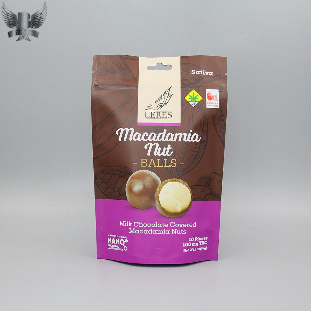 Custom edible bags foiled mylar bags wholesale