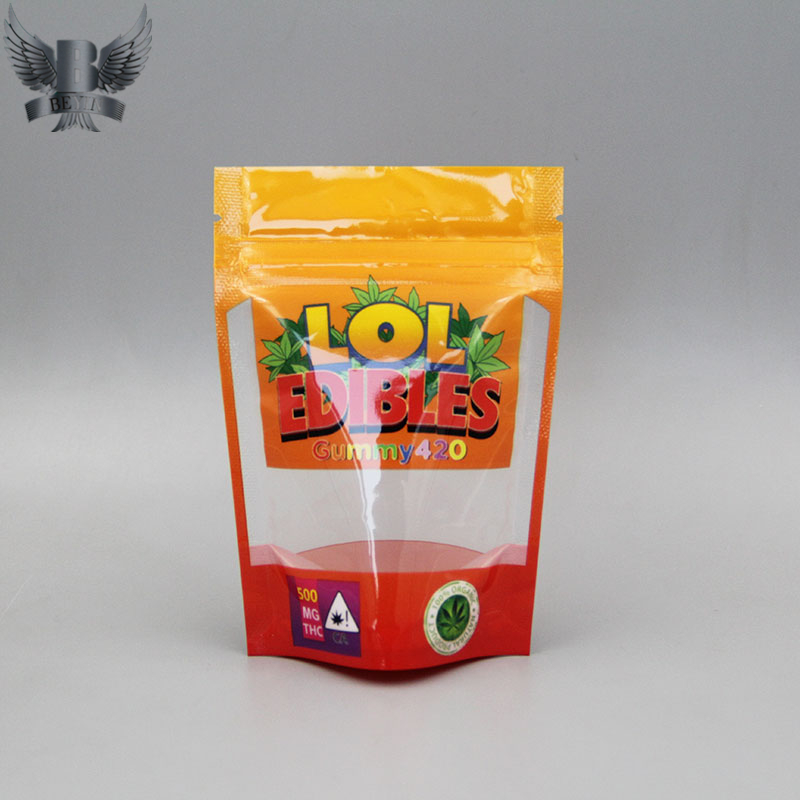 Custom edible packaging stand up pouches mylar bags