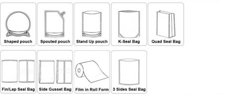 different type bags of Beyin packing